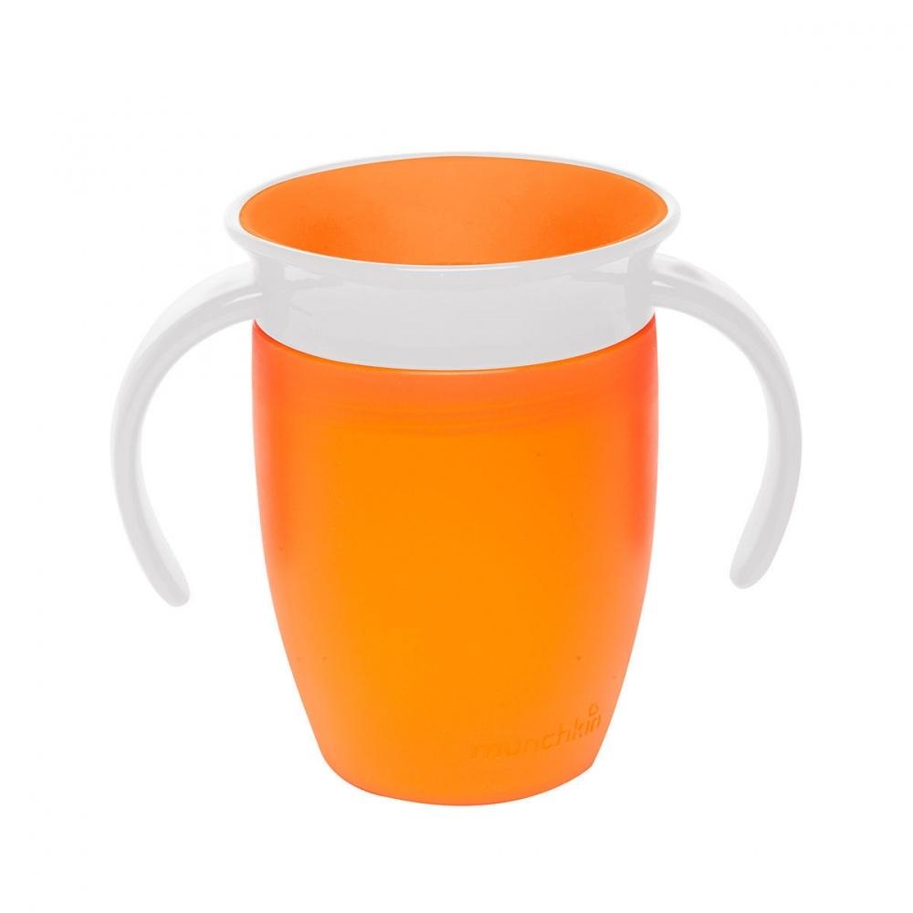 Чашки и поильники Munchkin Поильник-непроливайка Munchkin «360» с ручками с 6 мес. 207 мл оранжевый munchkin с крышками и 2 ложки