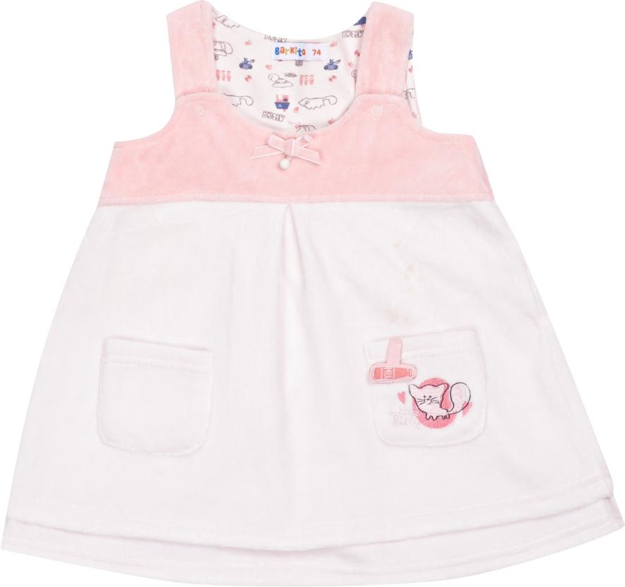 детские платья и сарафаны Сарафаны Barkito Кошки-Мышки ваниль