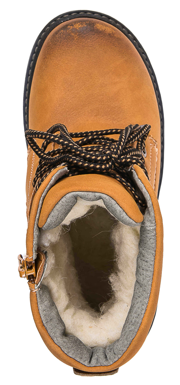 Ботинки для мальчика Barkito желто-коричневые