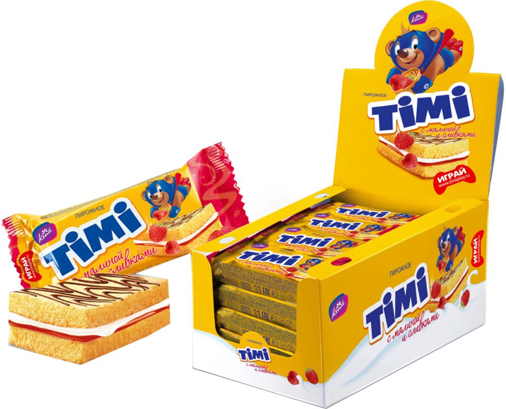 Десерты Konti TIMI с малиной и сливками 33 г масло подсолнечное затея рафинированное дезодорированное 1л