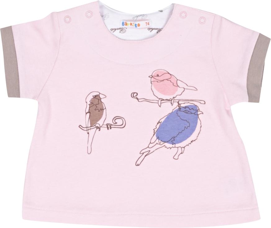 Футболки и топы Barkito Футболка с коротким рукавом для девочки Маленькая Леди Barkito розовый футболки и топы coccodrillo футболка cute cat w18143202cut