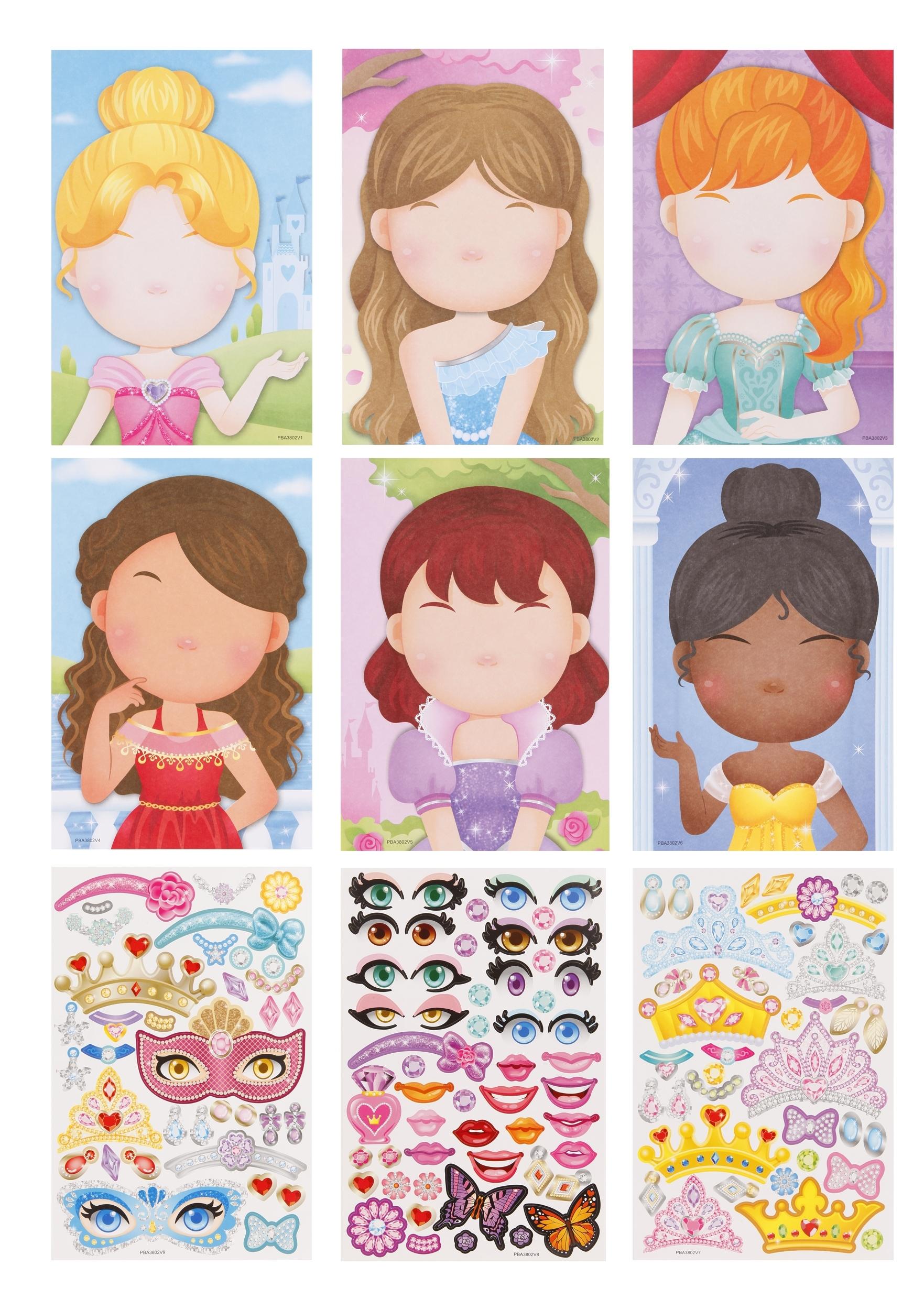 Игровой набор с наклейками Color Puppy Принцессы 95433
