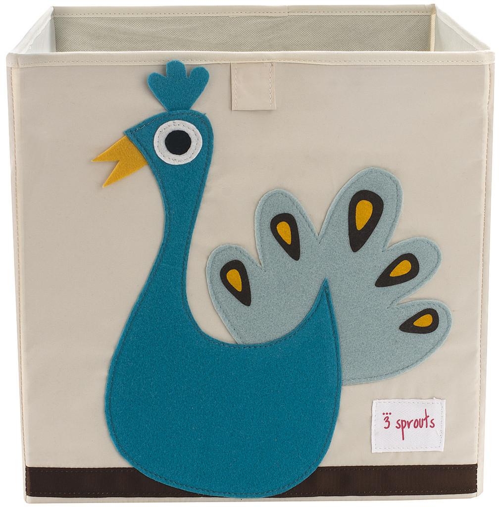 Ящики и корзины для игрушек 3 Sprouts «Blue Peacock»