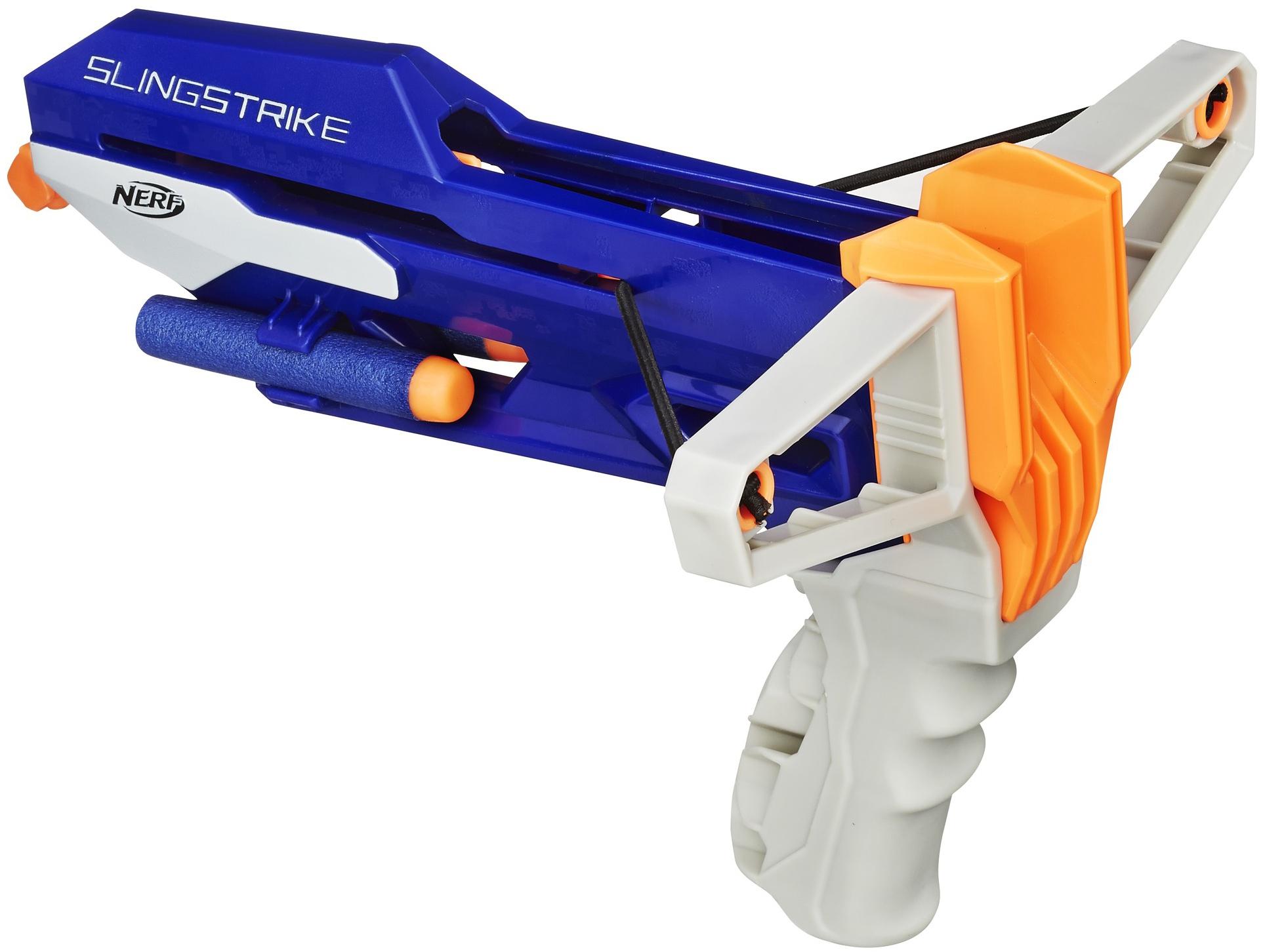 Купить Игрушечное оружие и бластеры, Элит Рогатка, 1шт., NERF A9250EU4, Китай, синий, белый, оранжевый, Мужской
