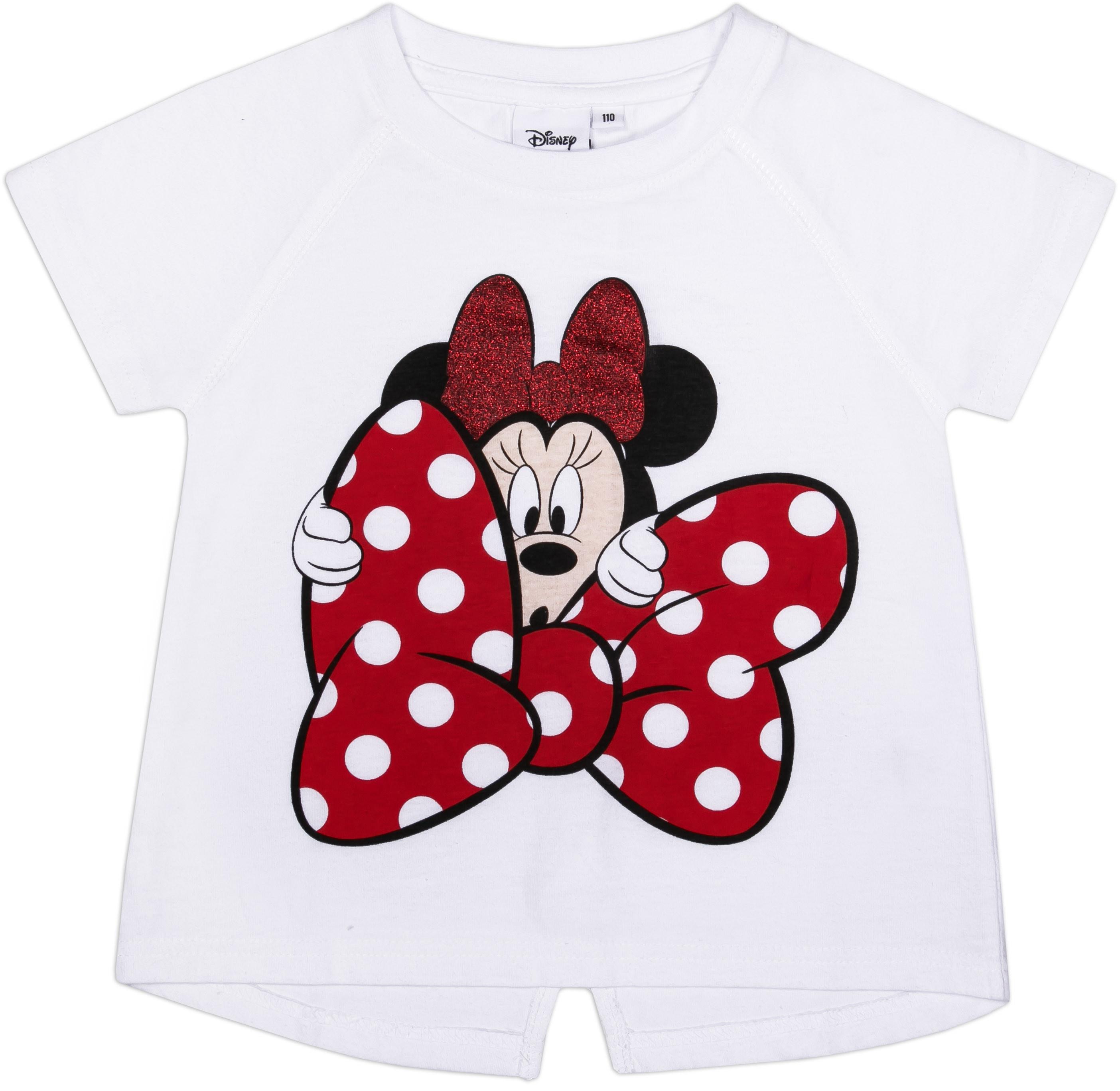 Футболки Barkito Футболка с коротким рукавом для девочки Minnie, белая patrizia pepe хлопковая футболка с коротким рукавом