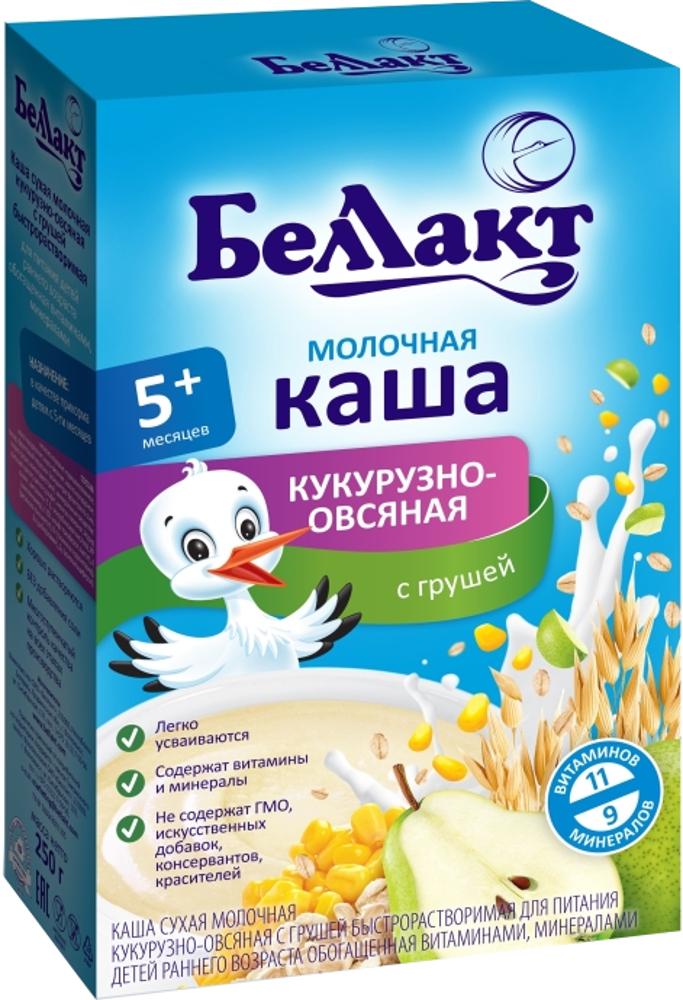 Каша Беллакт молочная кукурузно-овсяная с грушей (с 5 месяцев) 250 г беллакт каша молочная гречневая с яблоком 250 г