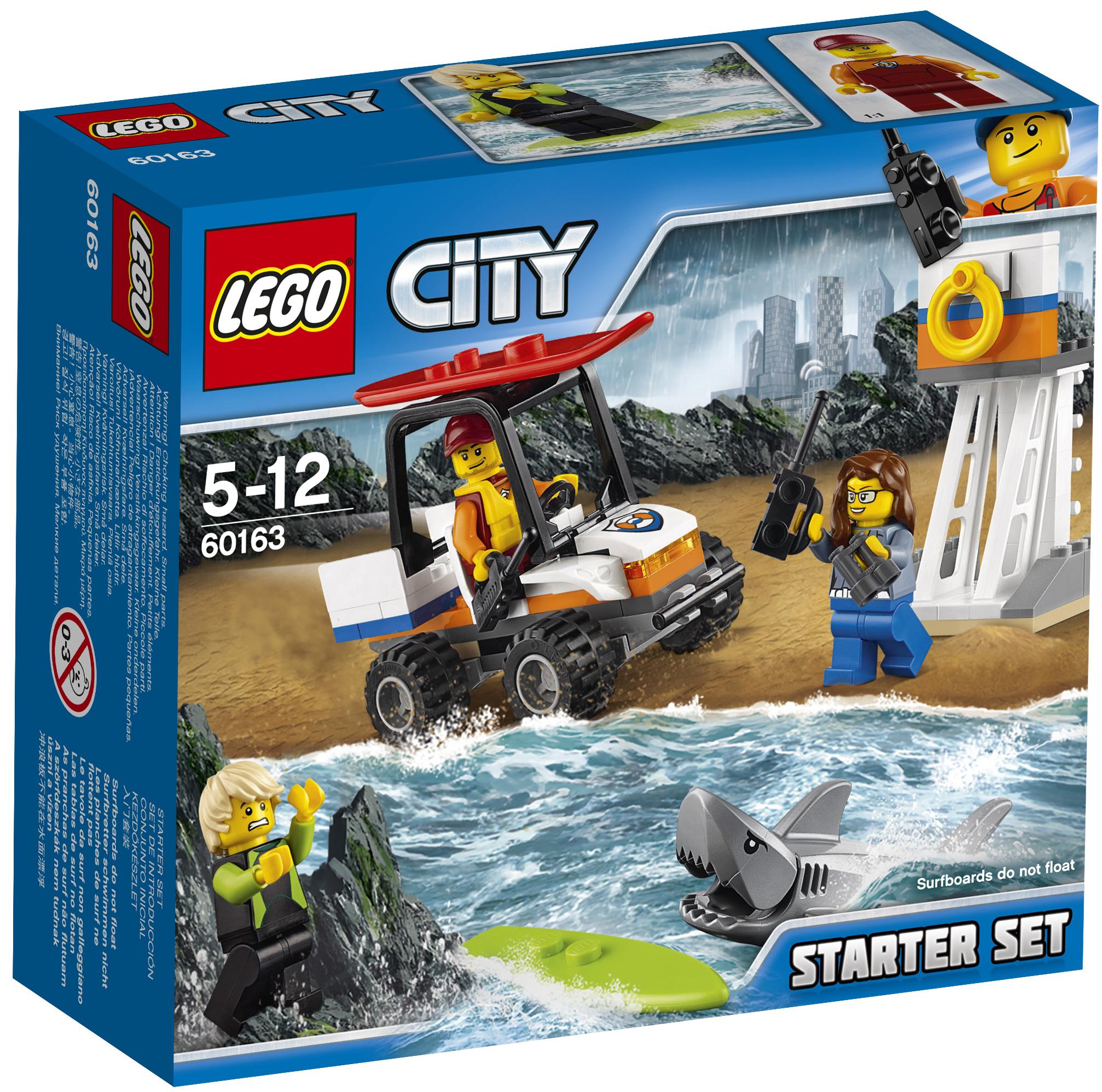 LEGO LEGO Конструктор LEGO City Coast Guard 60163 Набор для начинающих «Береговая охрана» конструктор lego city jungle explorer 60157 набор джунгли для начинающих