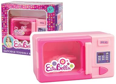 Детские кухни EstaBella Микроволновая печь игрушечная бытовая техника estabella микроволновая печь