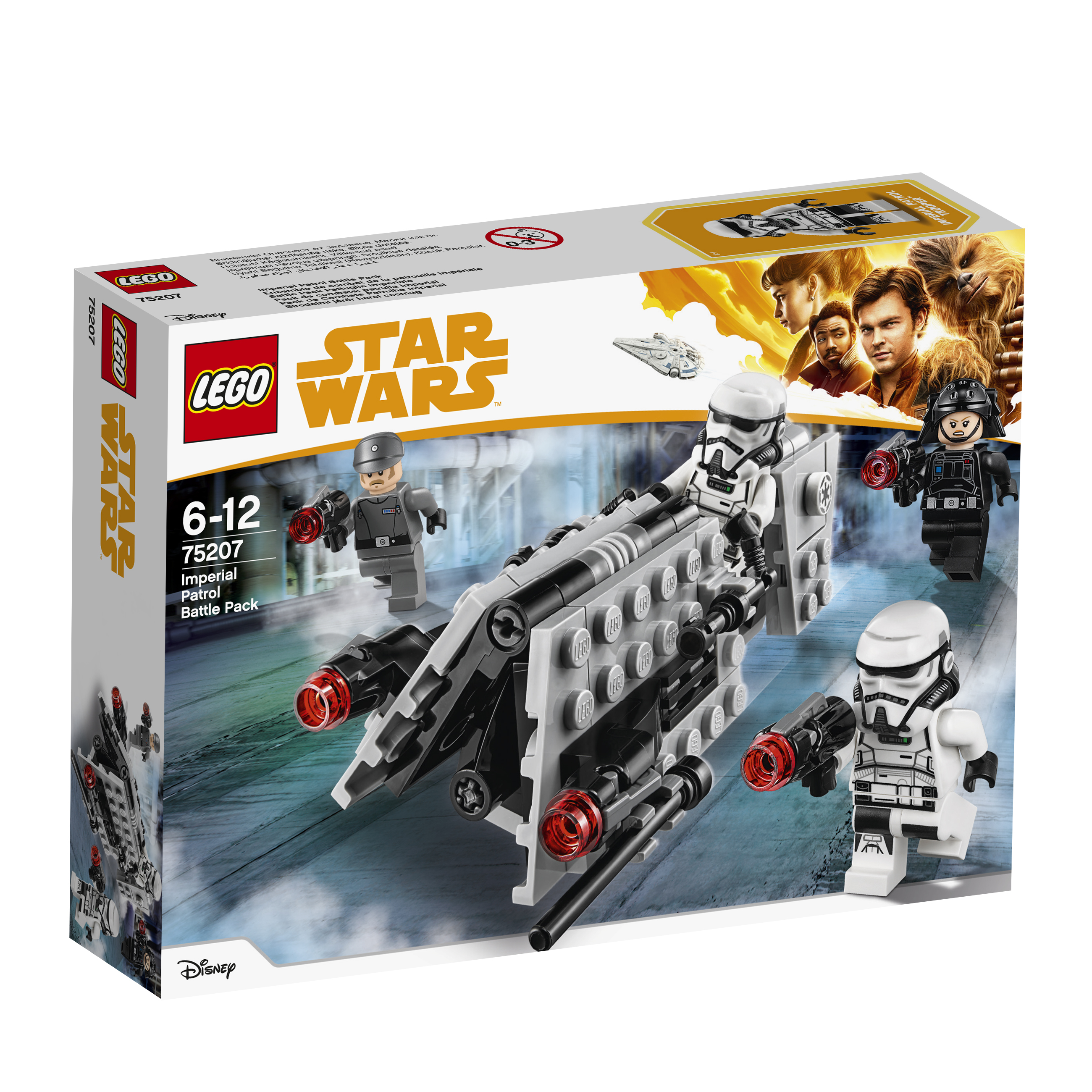 Star Wars LEGO Конструктор LEGO Star Wars 75207 Боевой набор имперского патруля 05065 genuine star wars y wing starfighter lepin building blocks bricks educational toys gift compatiable with lego kid gift set