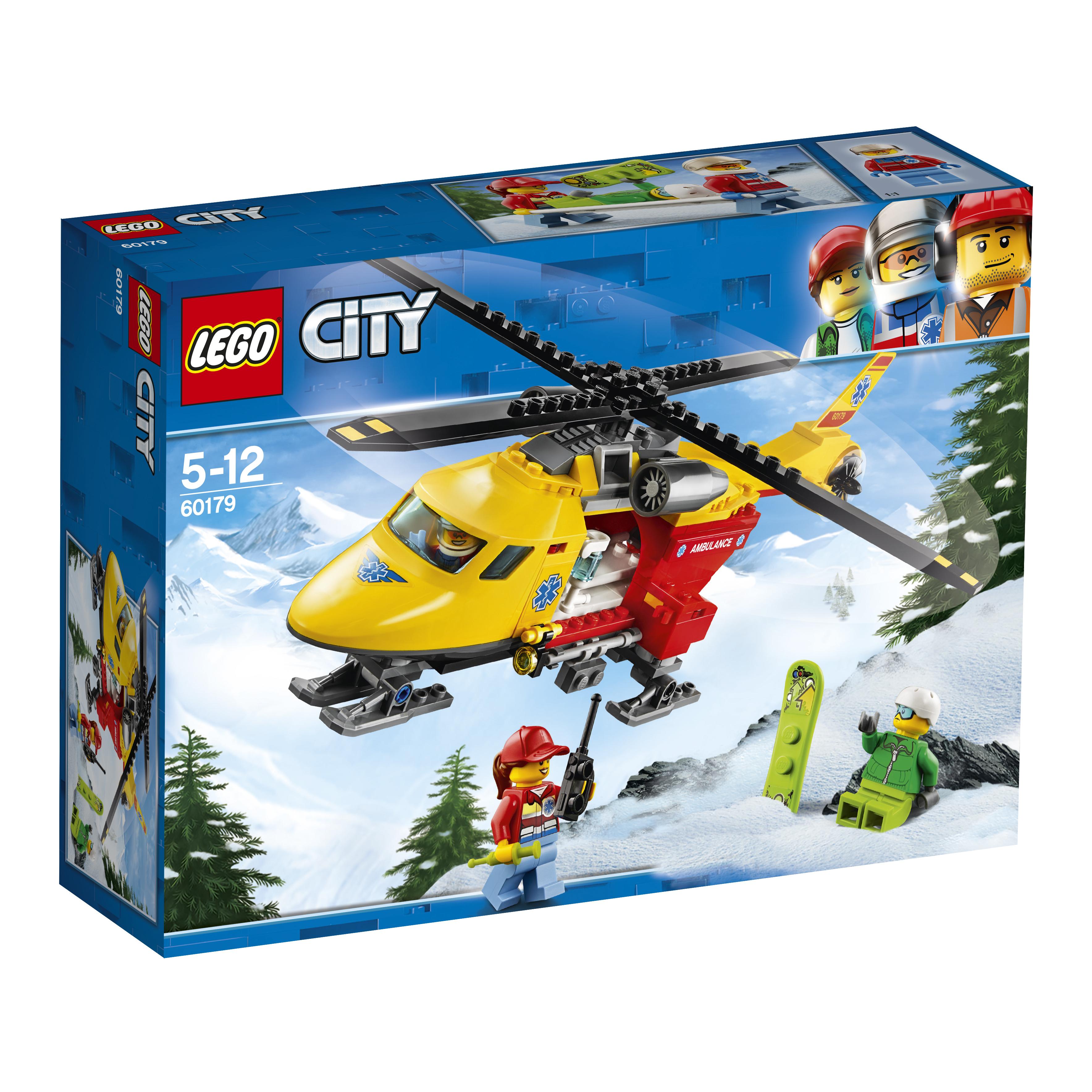Конструктор LEGO City Great Vehicles 60179 Вертолёт скорой помощи конструктор lego lego 42057 конструктор сверхлёгкий вертолёт