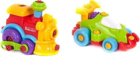 Наборы игрушечных инструментов Build'n Play Build & Play 11861 Машина + паровозик запчасти