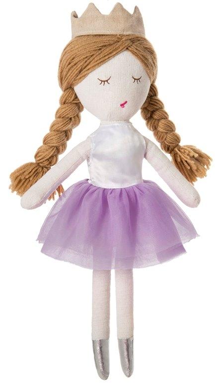 Мягкие игрушки Мир детства Кукла Принцесса сиреневая