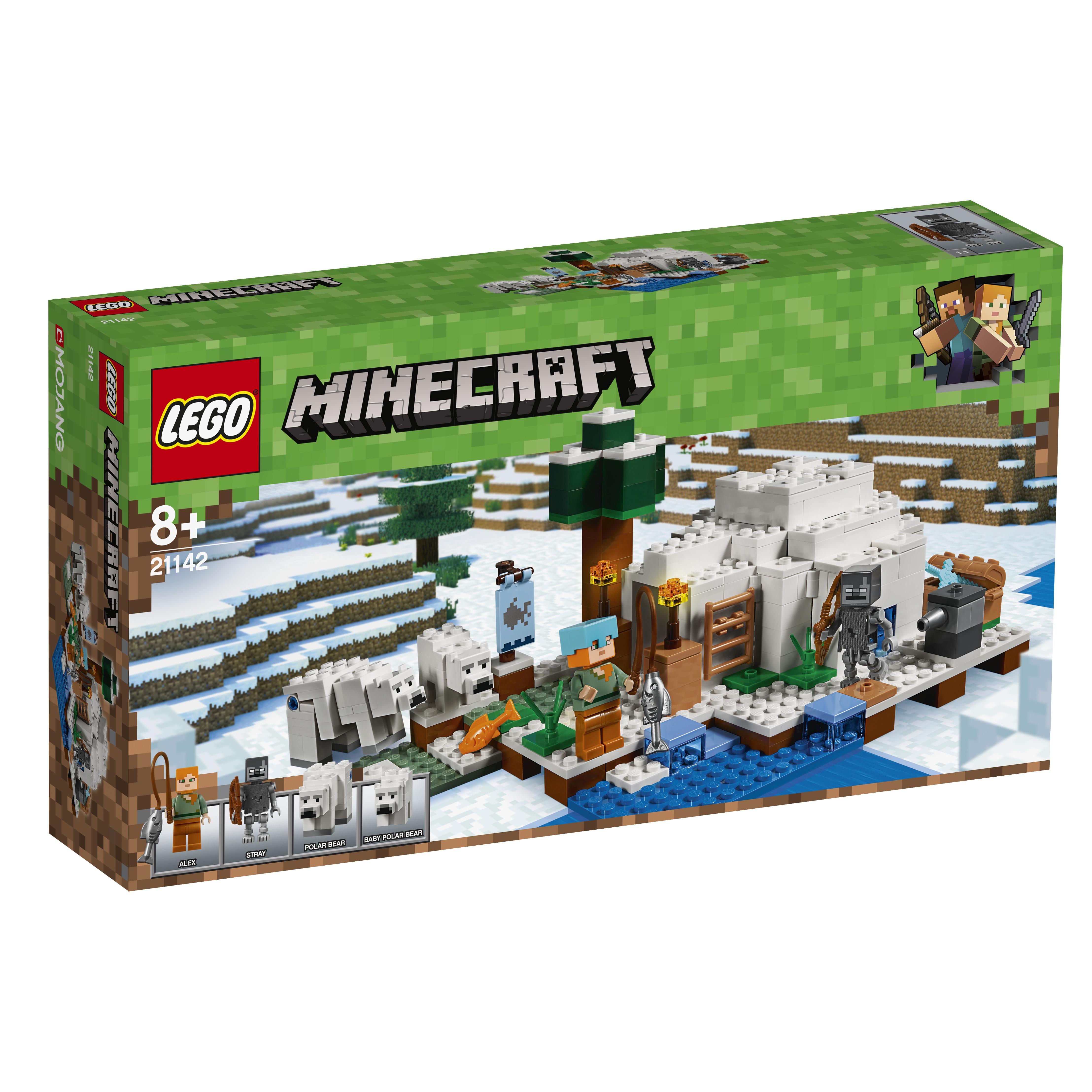 Конструктор LEGO Minecraft 21142 Иглу конструктор lego minecraft skeleton bigfig with magma cube 142 дет 21150