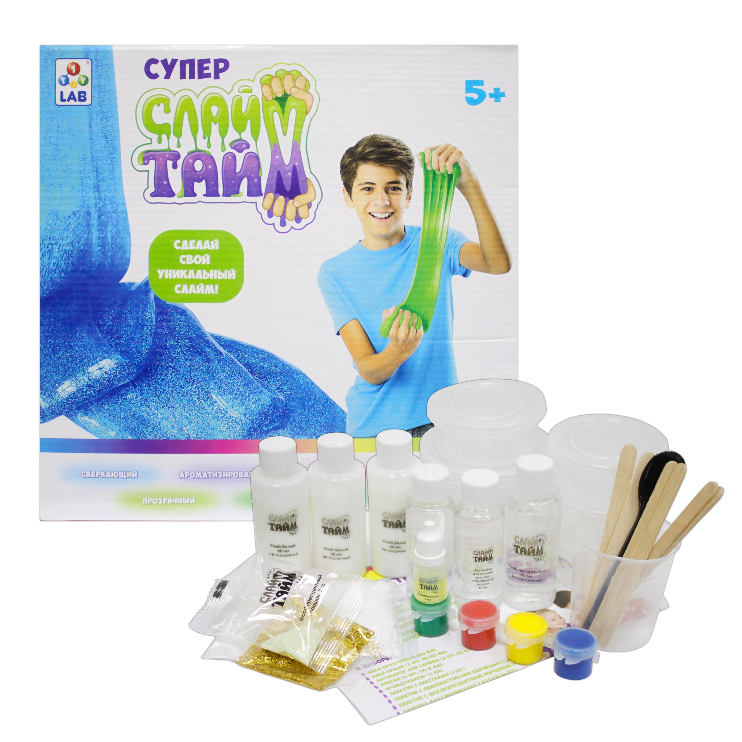 Игровой набор 1toy Сделай слайм набор для изготовления слайма 1toy сделай слайм многоцветный т12028