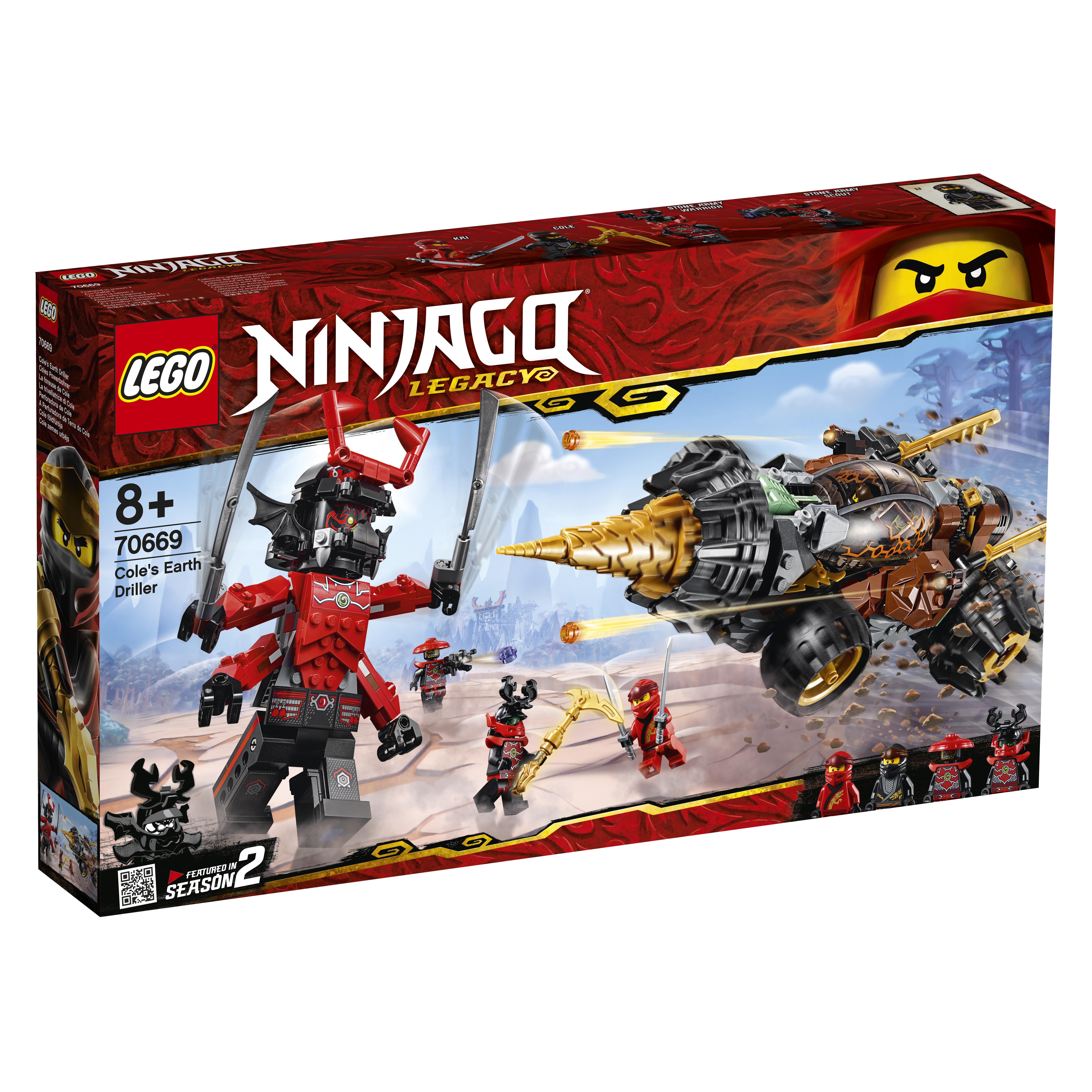 Конструктор LEGO Ninjago 70669 Земляной бур Коула. конструктор lego земляной бур коула 70669 ninjago legacy