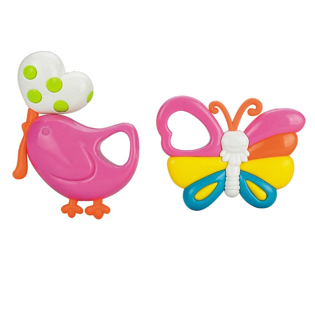 Погремушка Наша игрушка Птичка и бабочка macik погремушка птичка с колечками