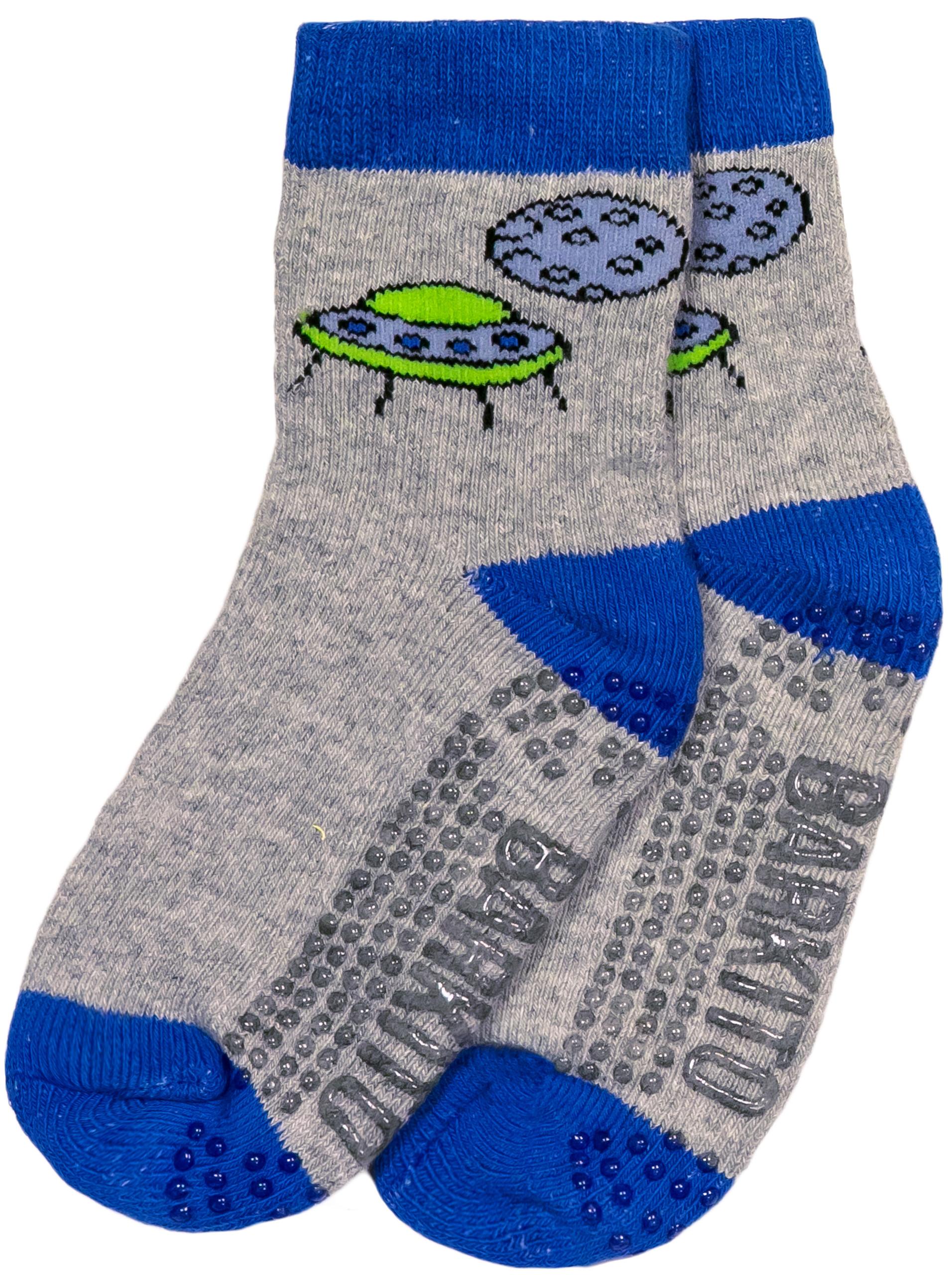 Носки Barkito Носки махровые антискользящие для мальчика Barkito, серые с рисунком ostin махровые носки с новогодним рисунком