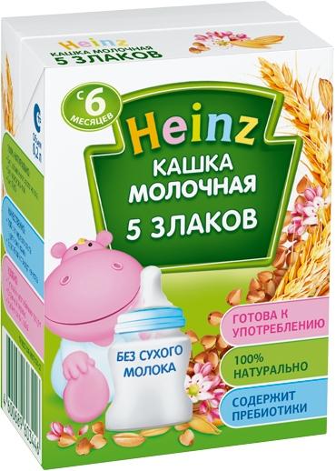 Каша Heinz Heinz Молочная 5 злаков (с 6 месяцев) 200 мл heinz каша многозерновая из пяти злаков с 6 месяцев 200 г
