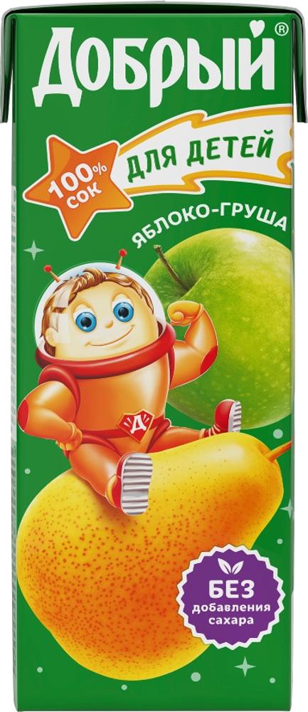 Сок Добрый Яблоко-груша с 5 мес. 200 мл добрый сок яблоко персик 0 2 л