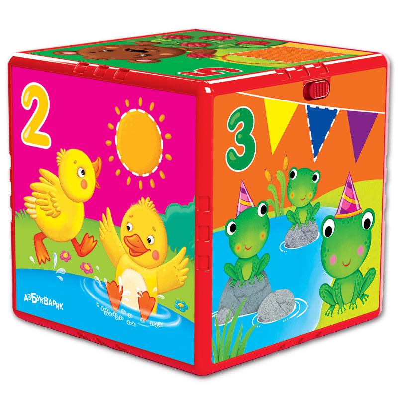 Развивающие игрушки Азбукварик Говорящий кубик Азбукварик «Счет, формы, цвета» азбукварик животные и растения 01409 1