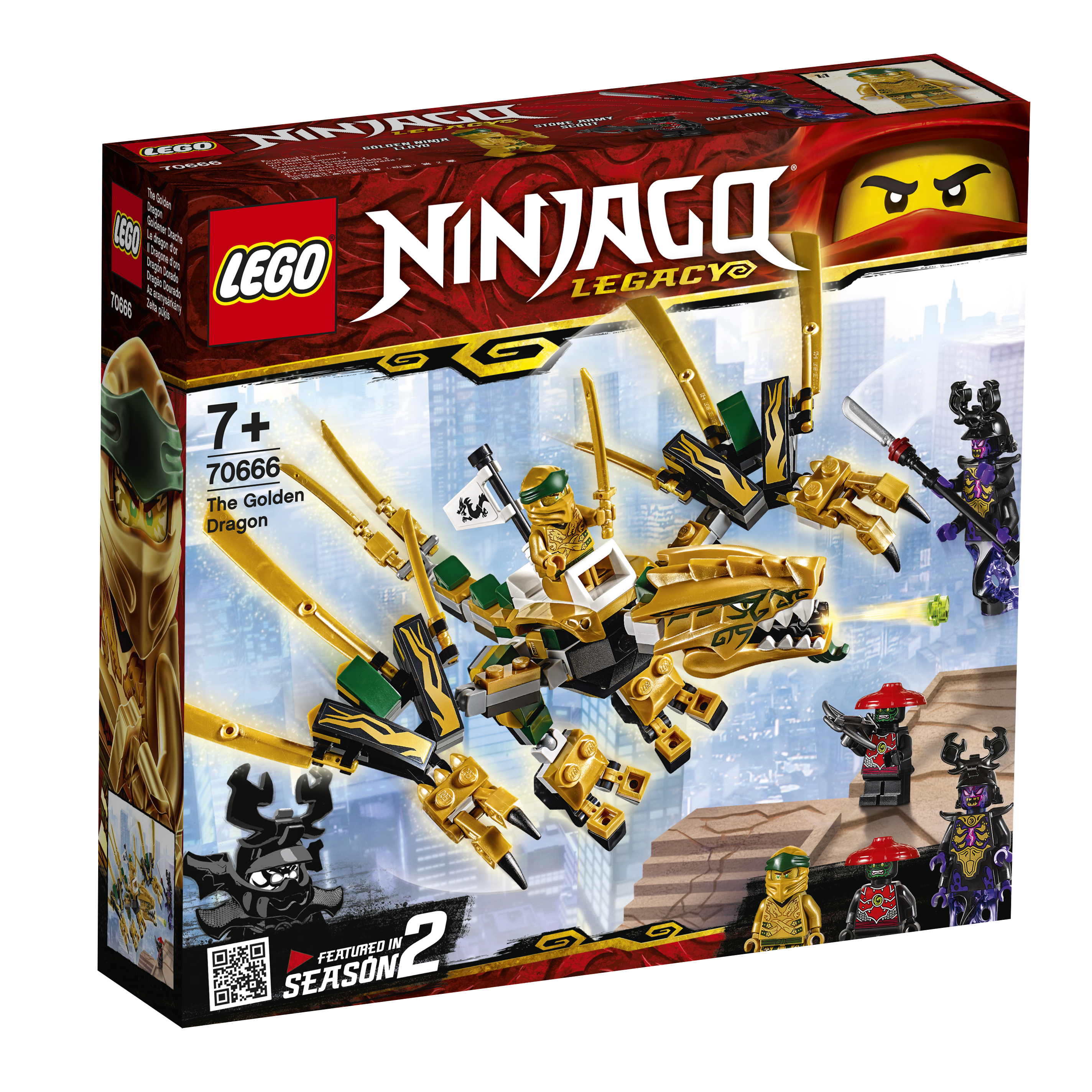 Конструктор LEGO 70666 Золотой Дракон конструктор lego золотой дракон 70666 ninjago legacy