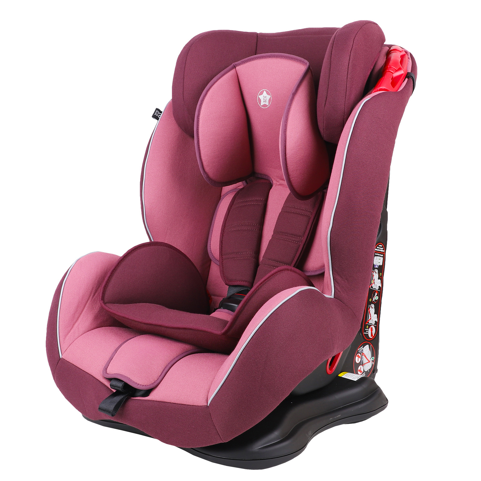 Автокресло Be2Me фиолетовый с розовым, группа 1/2/3, 9-36 кг автокресло be2me фиолетовый с синим группа 1 2 3 9 36 кг