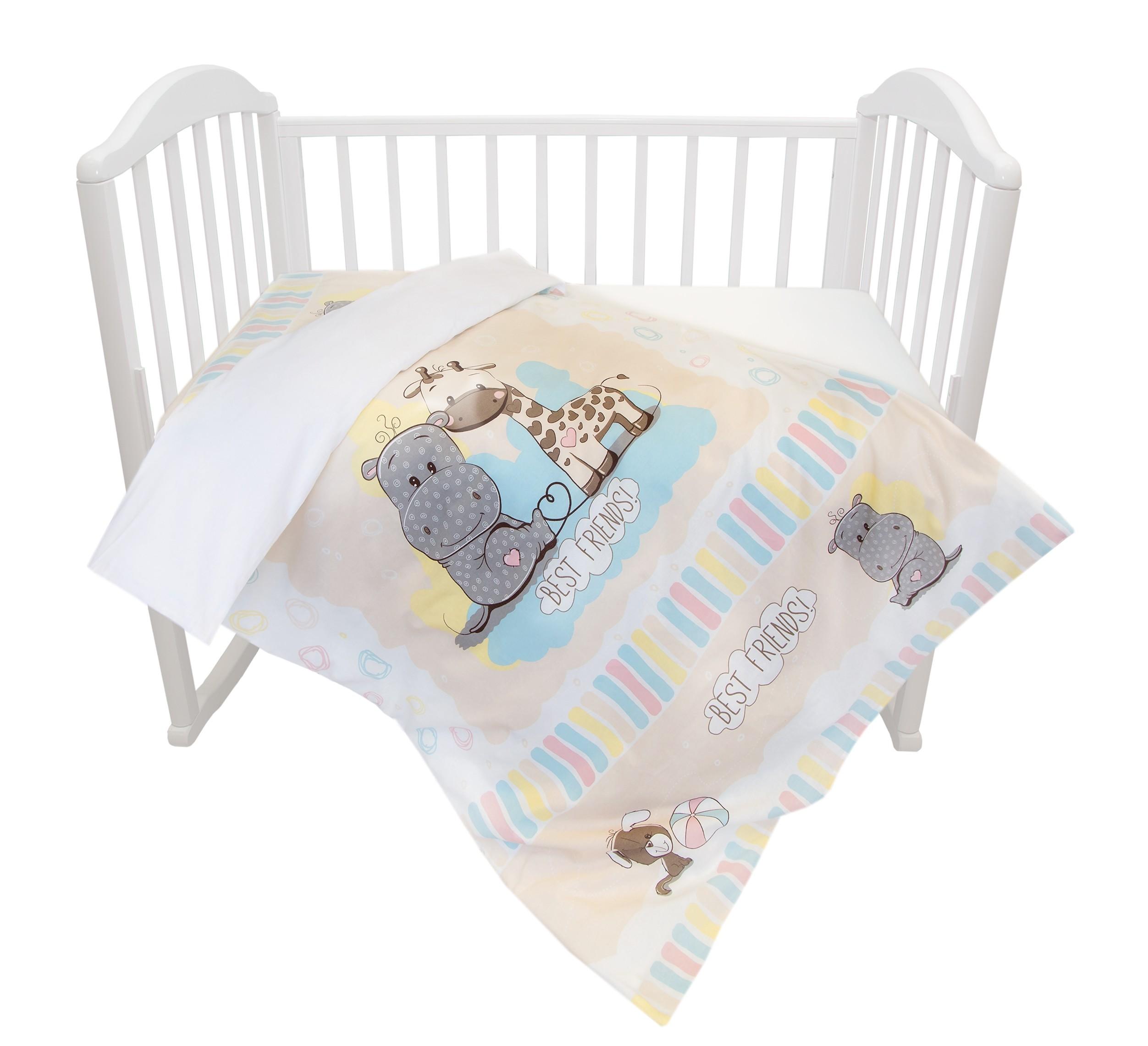 цена Комплект постельного белья Baby Nice Лучшие друзья онлайн в 2017 году