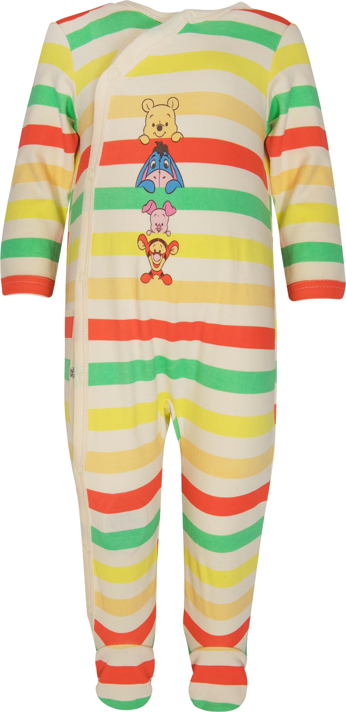 Купить Первые вещи новорожденного, Комбинезон детский Winnie The Pooh, белый с рисунком в полоску, Barkito, Китай, Новорожденный