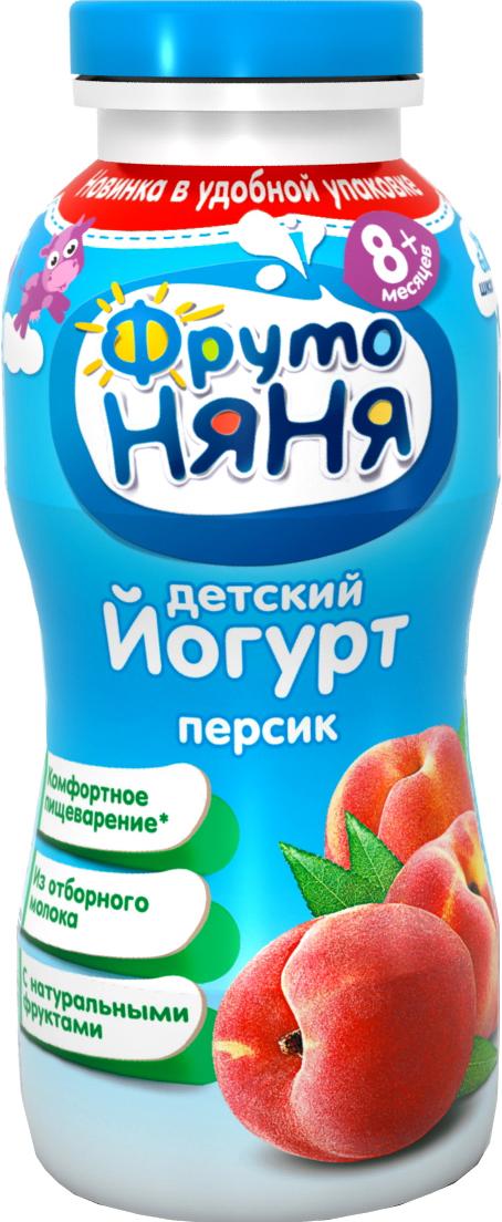 Молочная продукция Фрутоняня ФрутоНяня питьевой Персик 2,5% с 8 мес. 200 мл сок агуша яблоко и персик с мякотью с 3 лет 500 мл