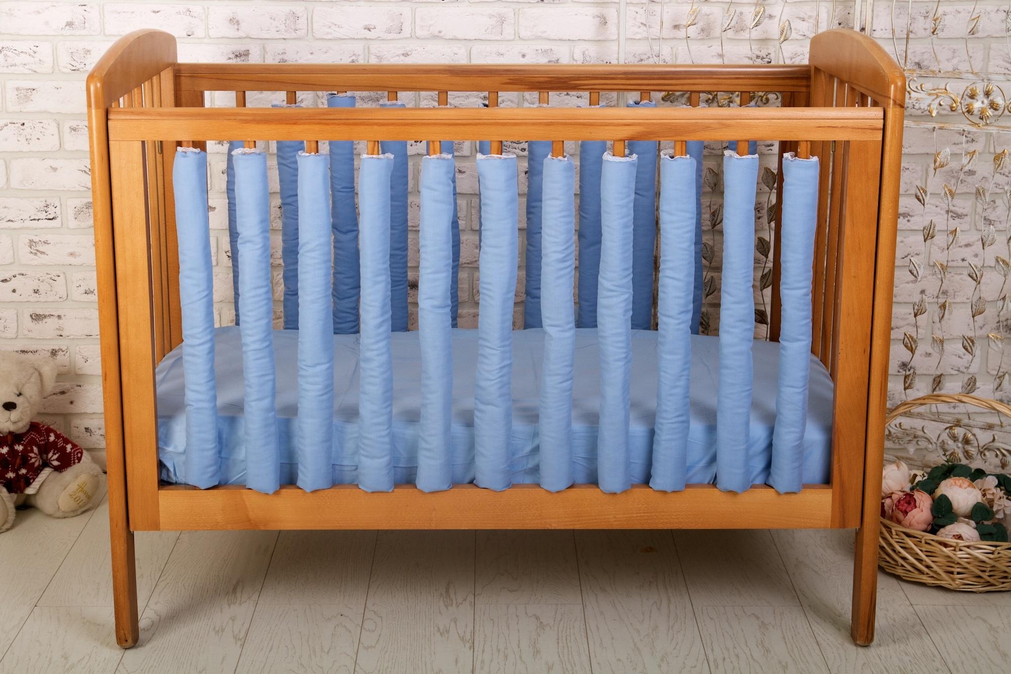 Аксессуары для кроваток Cloud factory Plain Blue 12 шт комплект фенс бамперов cloud factory 12 шт beauty balloons