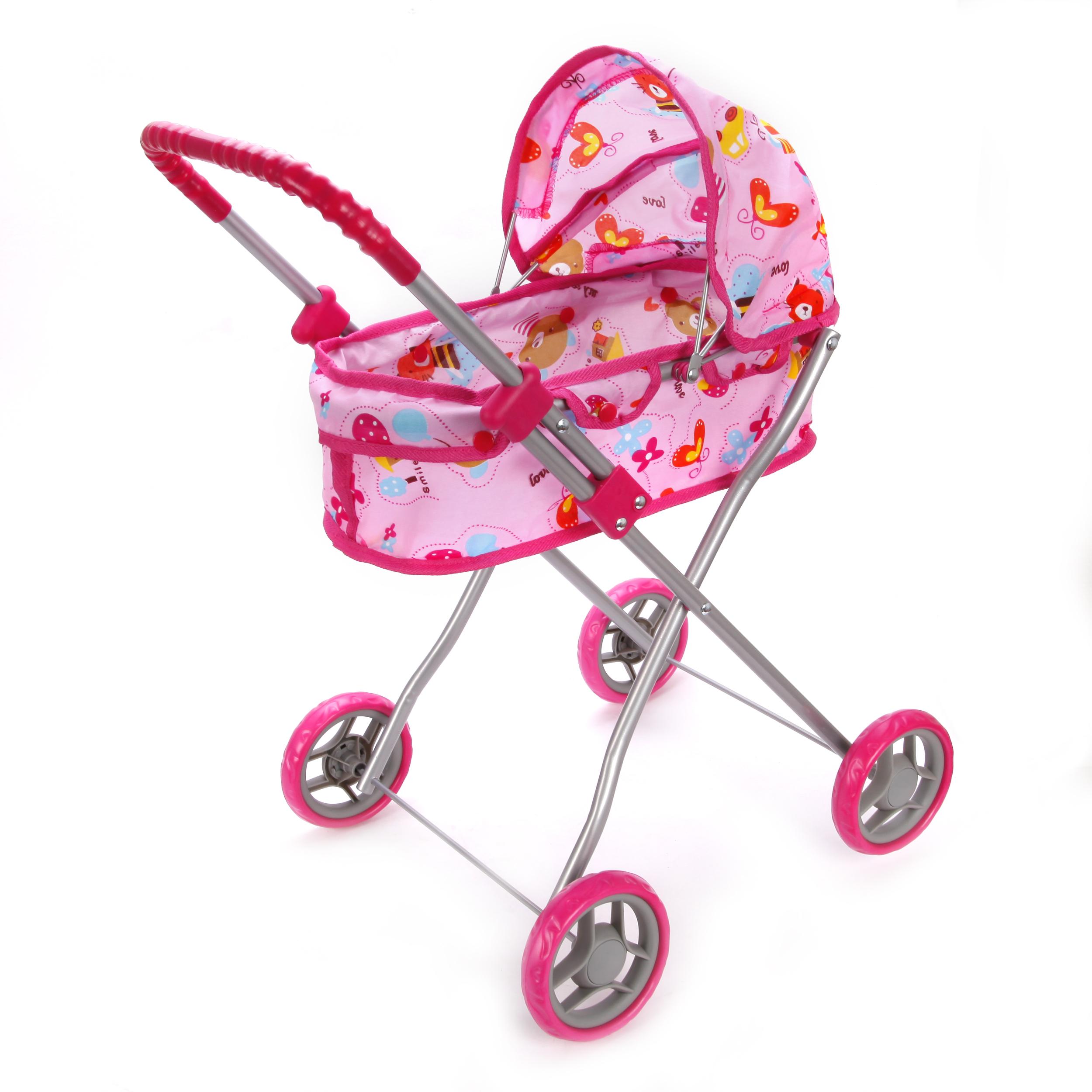 Коляски для кукол Mary Poppins Коляска-люлька для куклы Mary Poppins розовая mary poppins коляска трансформер mary poppins 67230 фиолетовый