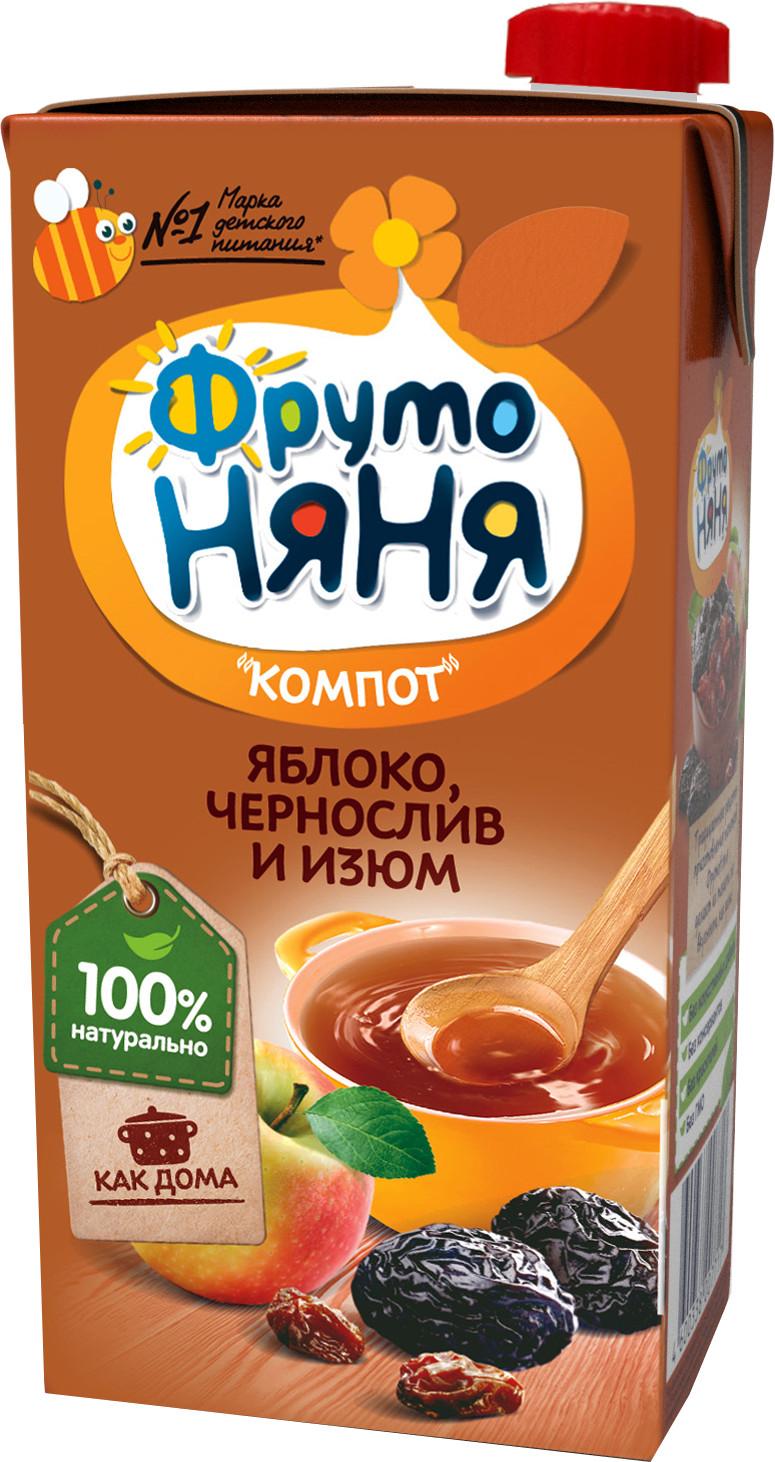 Напитки Фрутоняня Яблоко, чернослив и изюм с 3 лет 500 мл соки и напитки агуша компот курага изюм яблоко 500 мл