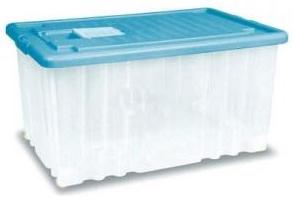 Ящик для игрушек Дарел Ящик с крышкой на колесах 56 л