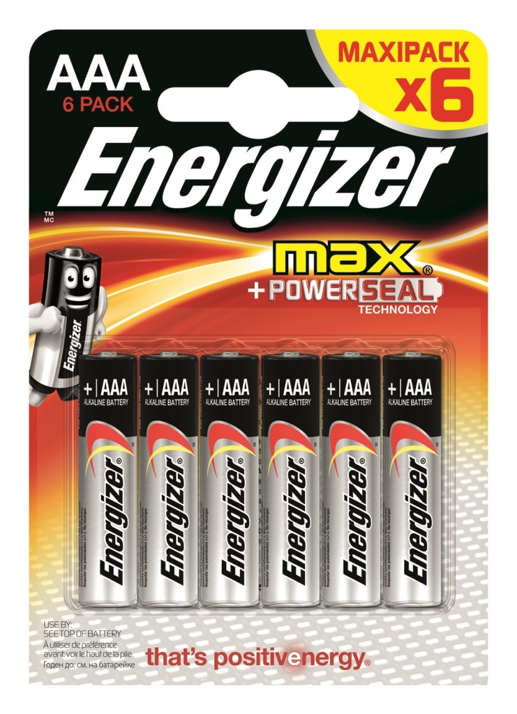 Элементы питания Energizer E92 ААА 6 шт. элементы питания energizer base aa 2 шт