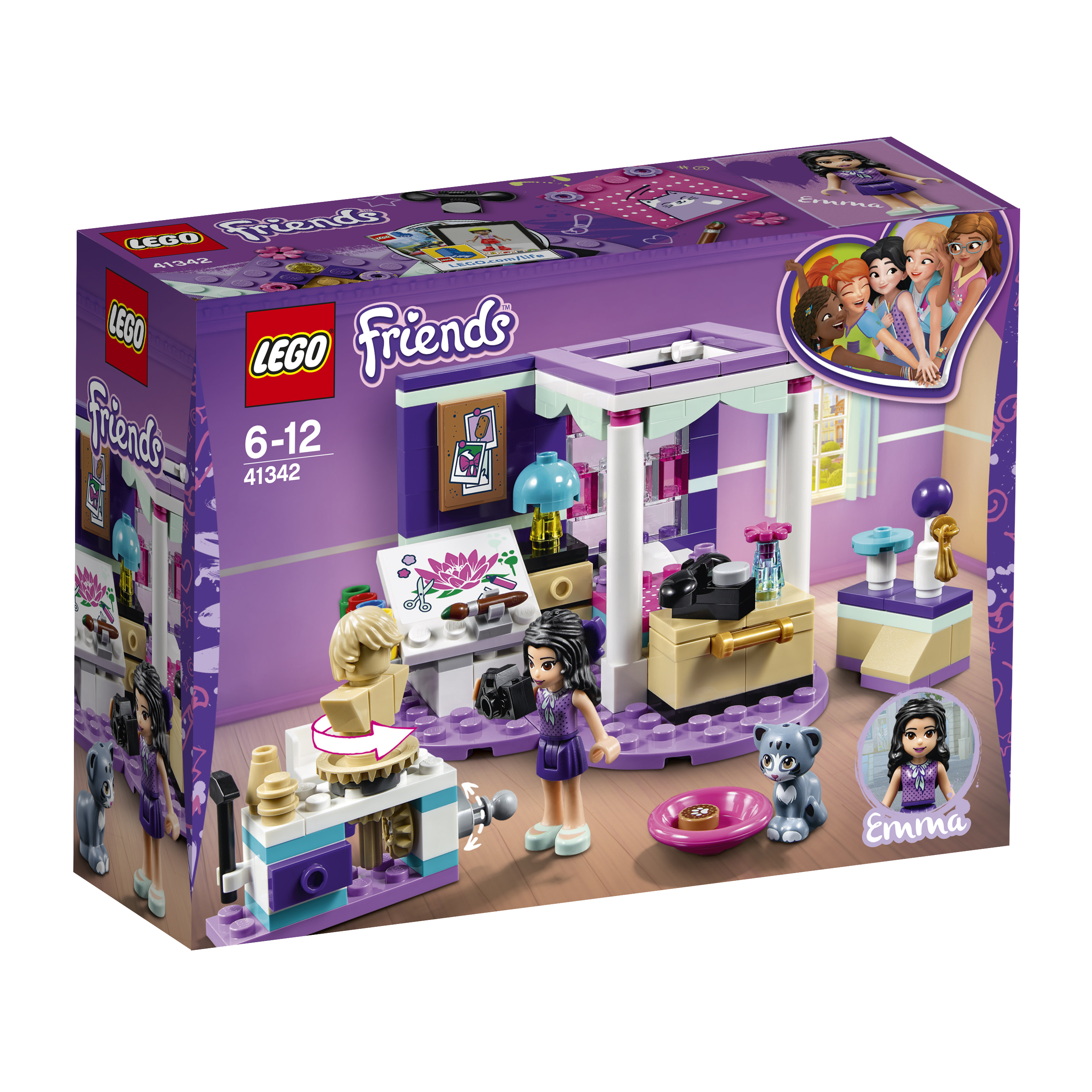 LEGO LEGO Конструктор LEGO Friends 41342 Комната Эммы конструктор lego friends огород 561507