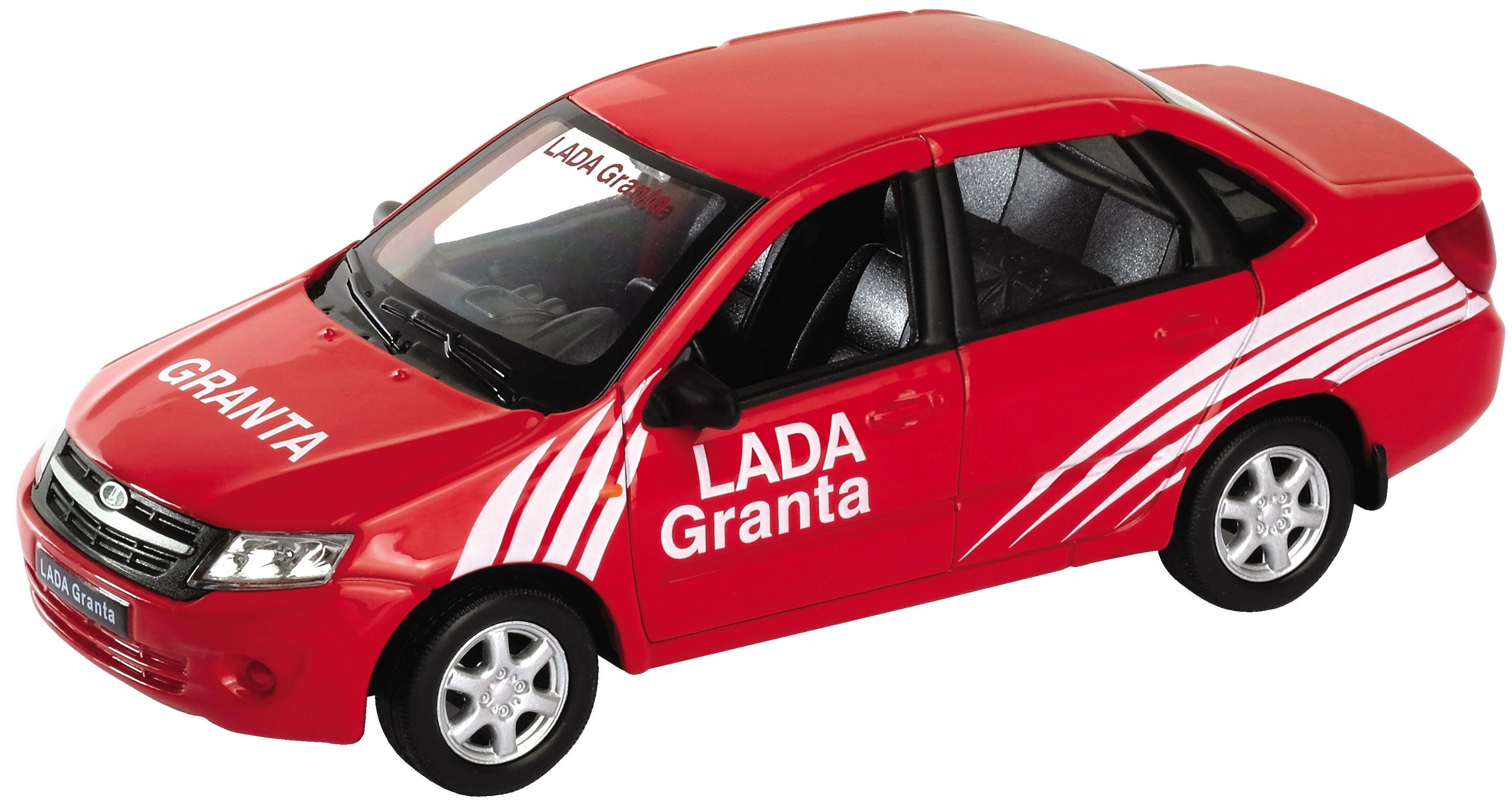 Машинки и мотоциклы Welly Модель машины Welly «Lada Granta Rally» 1:34-39 welly 43657fs модель машины 1 34 39 lada granta пожарная охрана