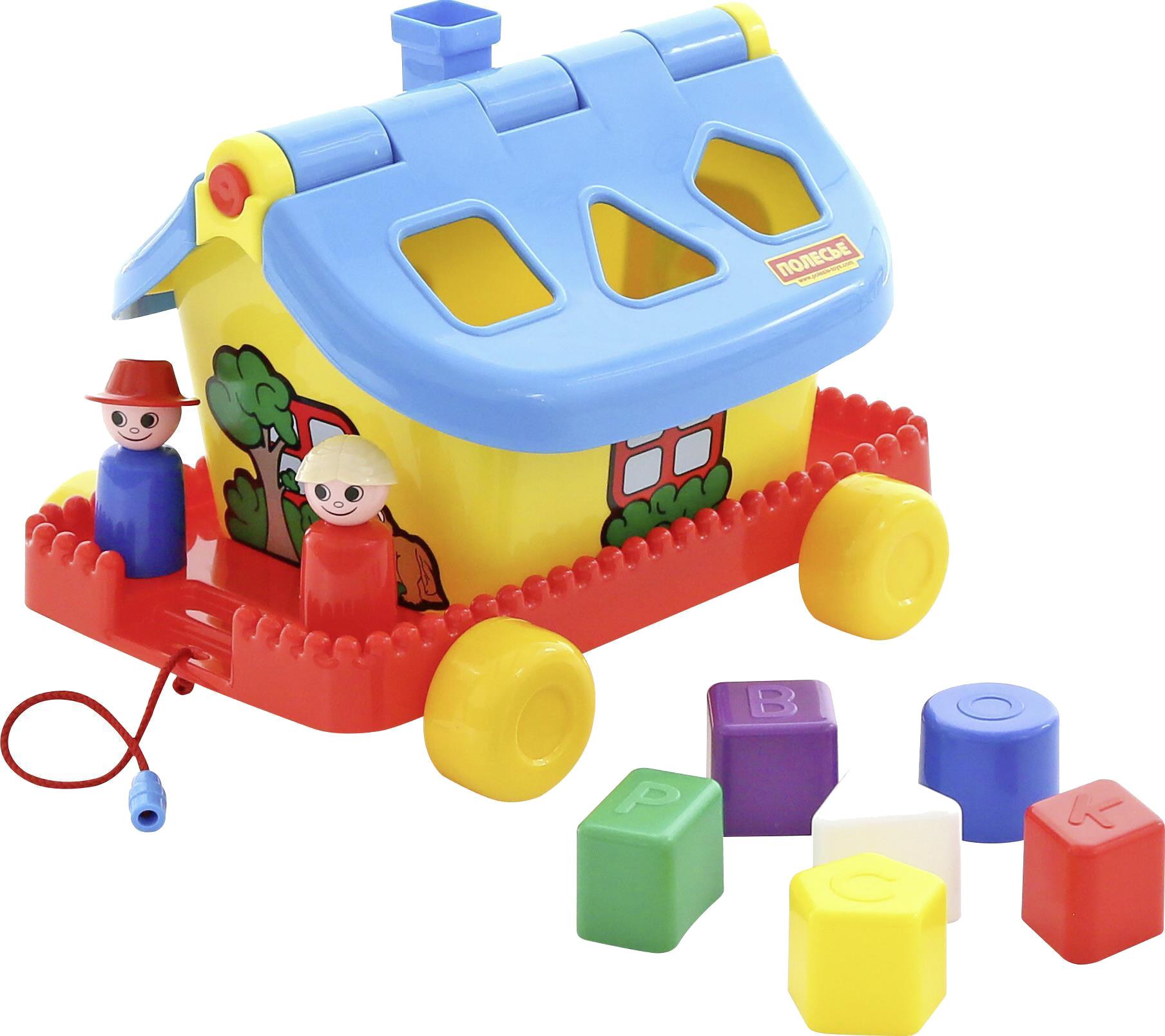 Сортеры для малышей Русский стиль Садовый домик на колёсиках