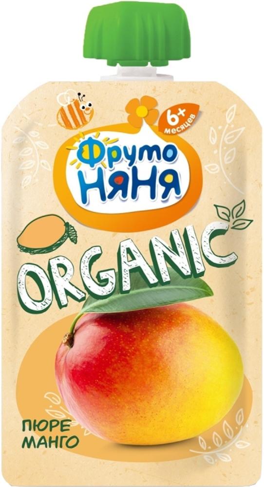 Пюре Фрутоняня ФрутоНяня Organic Манго с 6 мес. 90 г (пауч)