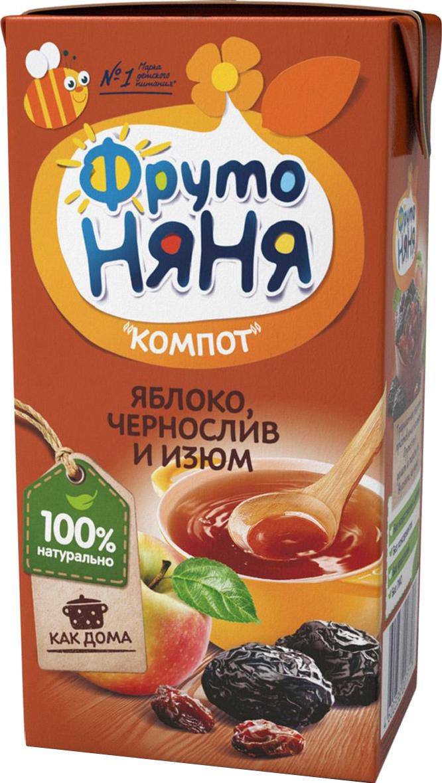 Напитки Фрутоняня ФрутоНяня Яблоко, чернослив и изюм с 6 мес. 200 мл соки и напитки агуша компот курага изюм яблоко 500 мл