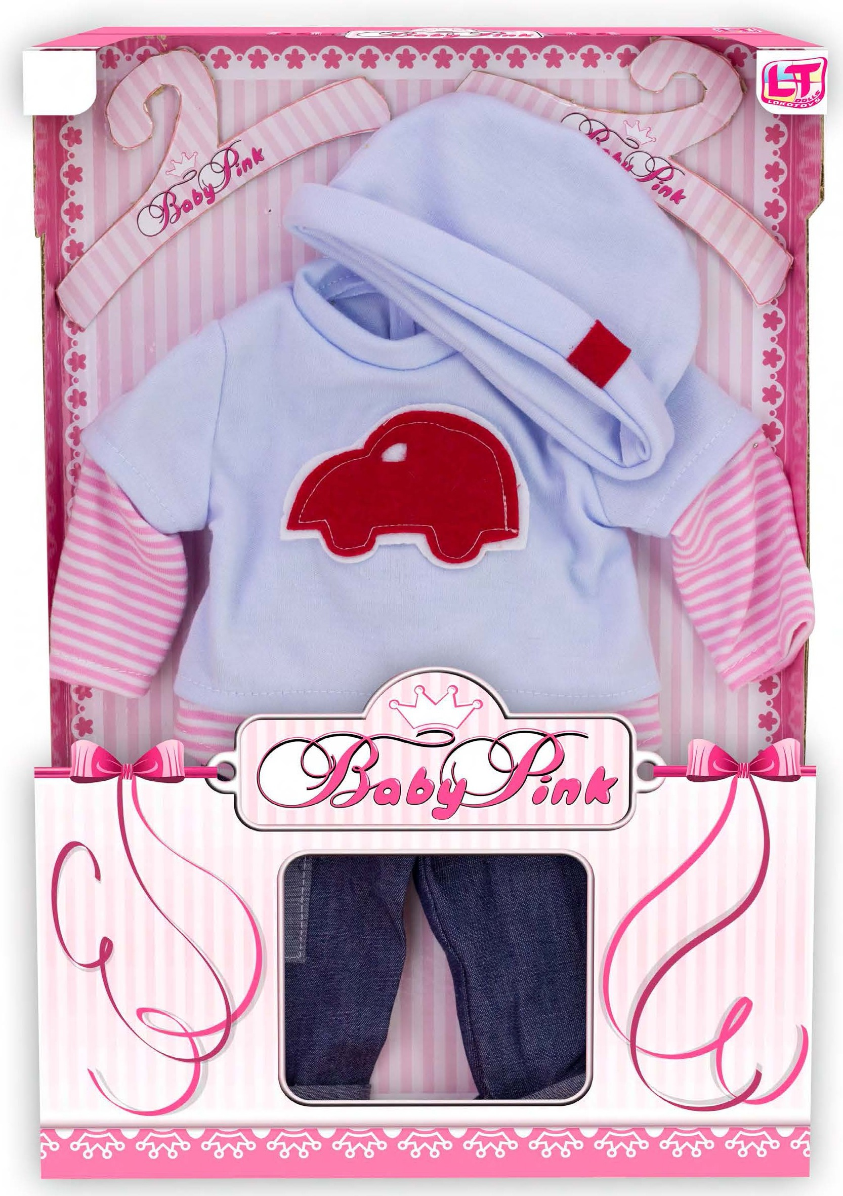 Одежда для кукол LokoToys Одежда для куклы мальчика Baby Pink - 98220 куклы и одежда для кукол famosa кукла нэнси волшебный поцелуй