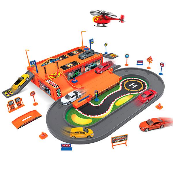 Гаражи и игровые наборы Welly Гараж 96030 welly welly набор служба спасения пожарная команда 4 штуки