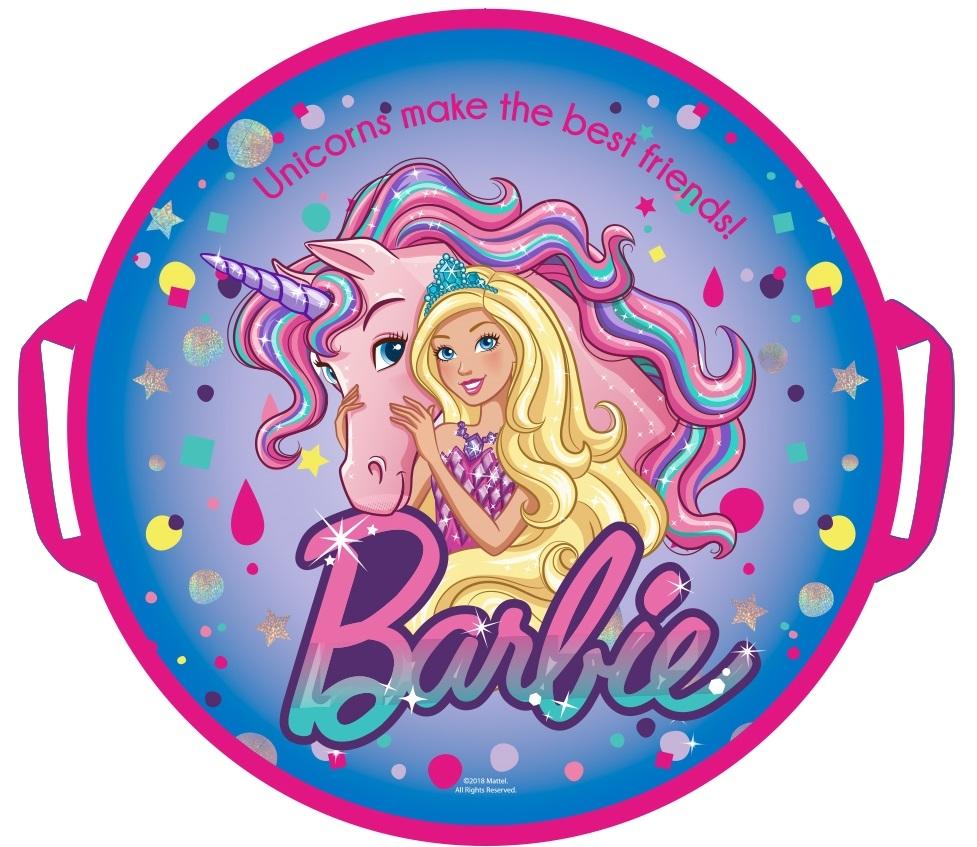 Ледянки 1toy Ледянка 1Toy «Barbie» круглая 52 см ледянки 1toy ледянка 1toy peppa 52 см треугольная