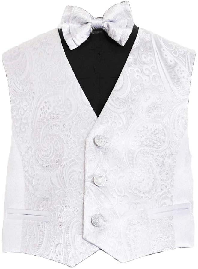 Форма для мальчиков Смена Жилет и галстук-бабочка «Смена», бело-серебристый комплект жилет галстук платок quelle studio coletti 890172