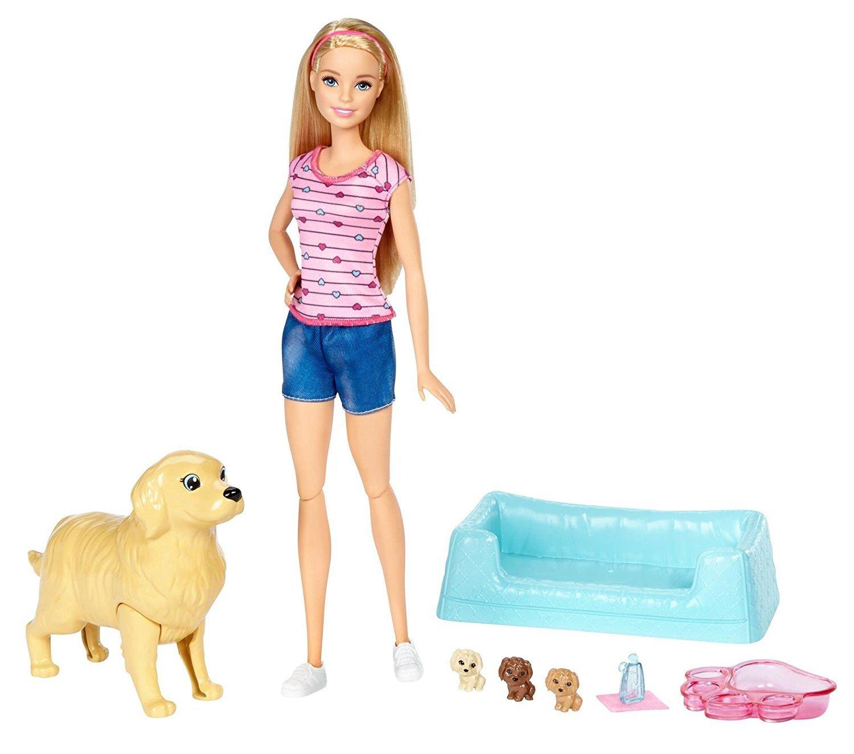 Фото - Barbie Barbie Кукла и собака с новорожденными щенками кукла barbie и собака с новорожденными щенками 29 см fdd43