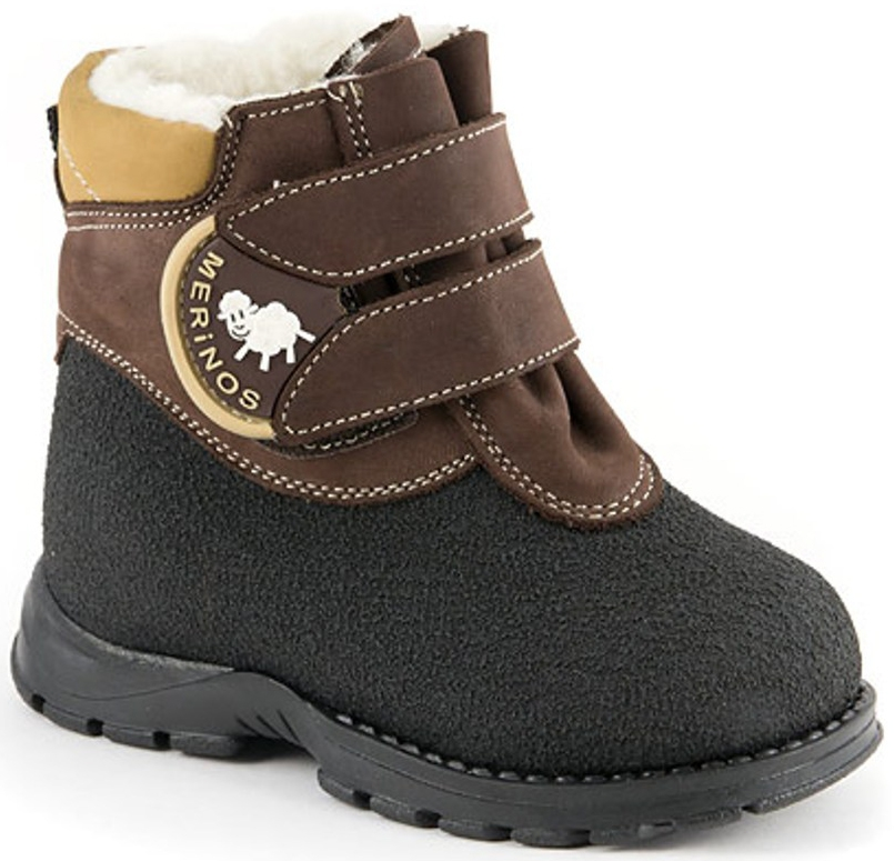 Ботинки и полуботинки Детский Скороход Ботинки ясельно-малодетские для мальчика Детский Скороход, коричнево-черные ботинки для мальчика reima черные