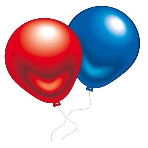цена на Набор воздушных шаров Everts разноцветные металлик 10 шт.