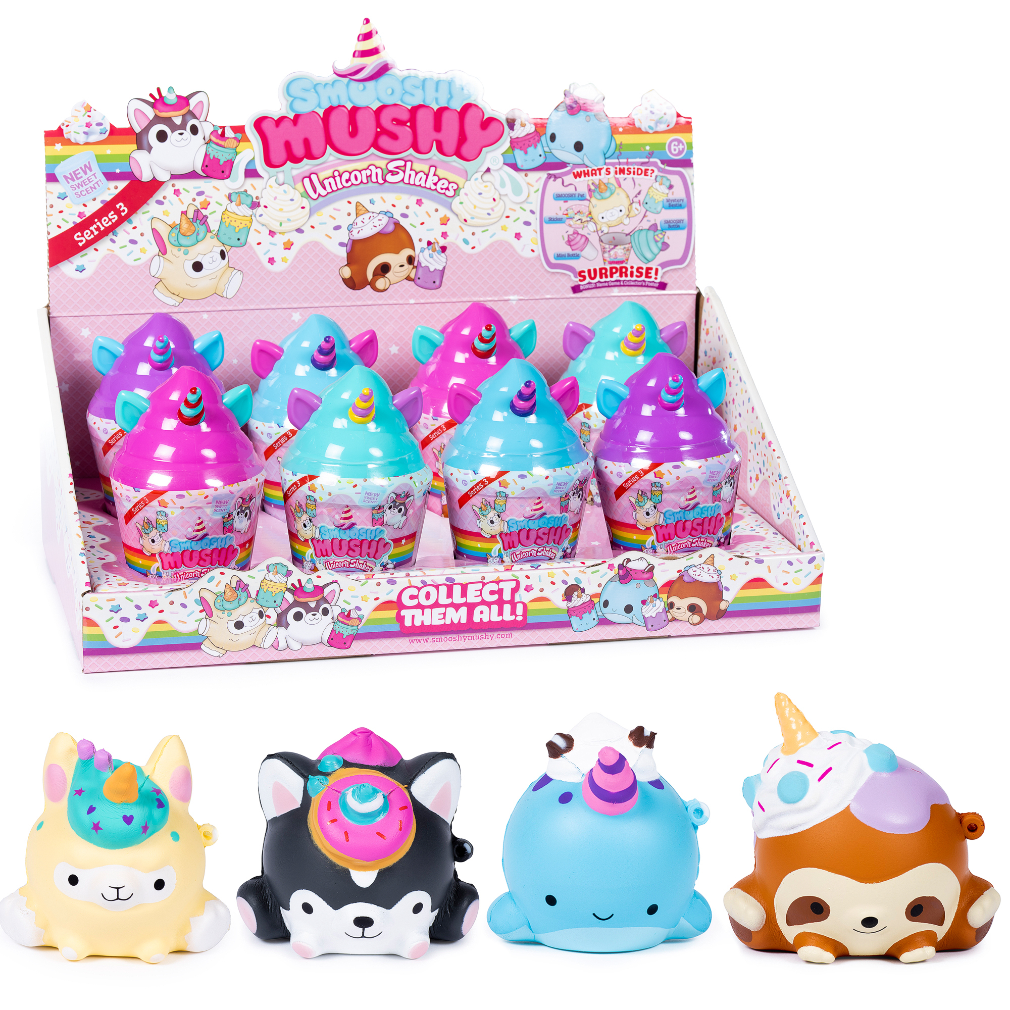 Игрушка Smooshy Mushy Frozen Delight. Десертный коктейль smooshy mushy игрушка антистресс smooshy mushy core питомец 2 серия