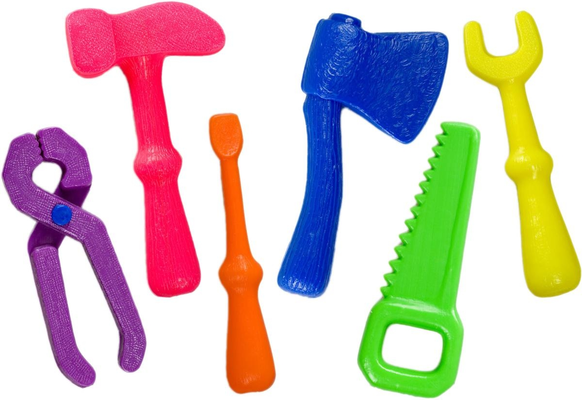 Наборы игрушечных инструментов РосИгрушка Набор инструментов РосИгрушка «Маленький мастер» в сетке