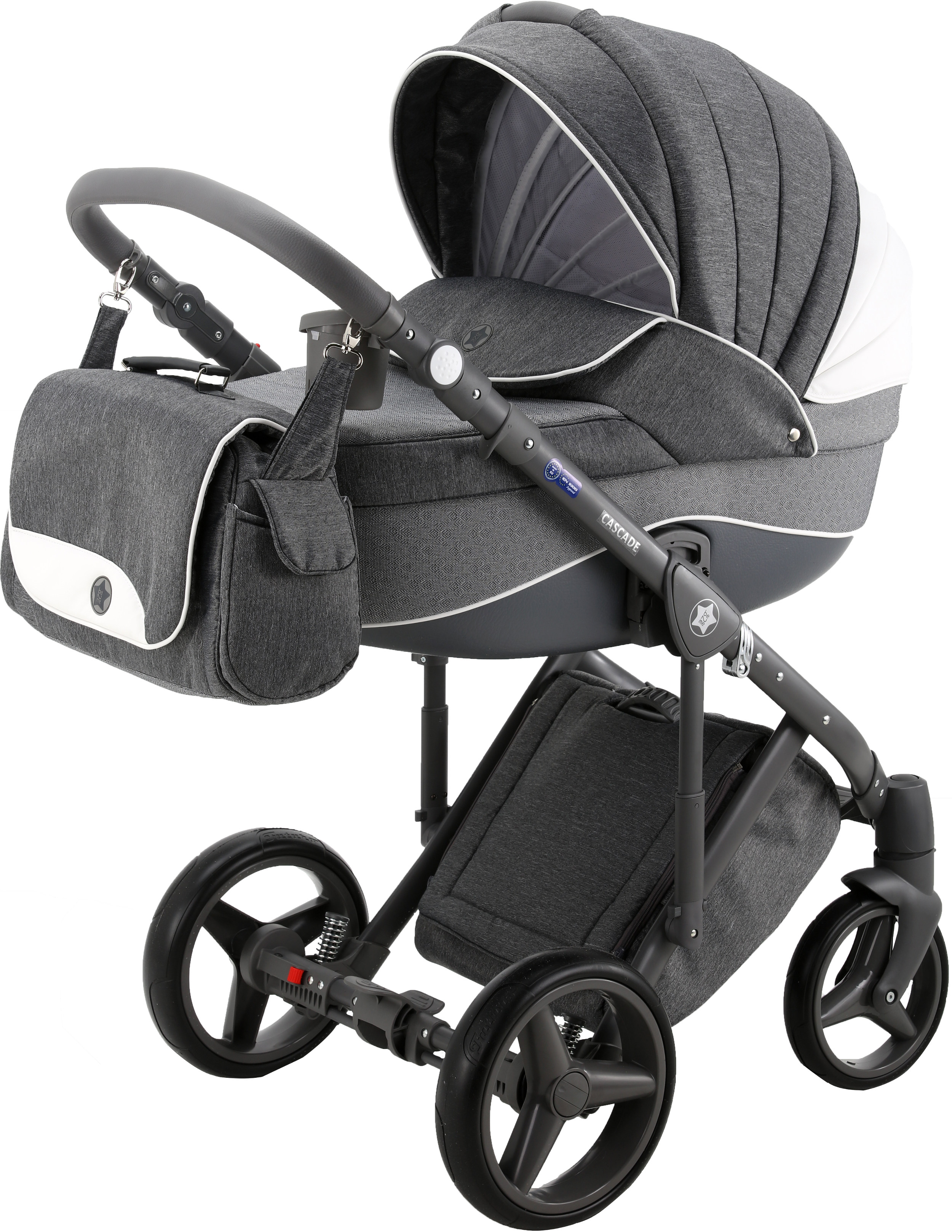 Классическая коляска 3 в 1 Be2Me Cascade Carlo серый