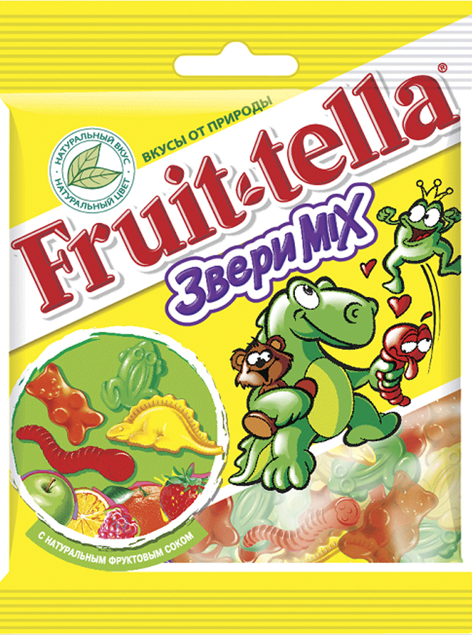 Мармелад Fruittella Fruittella «Звери Mix» жевательный 70 г